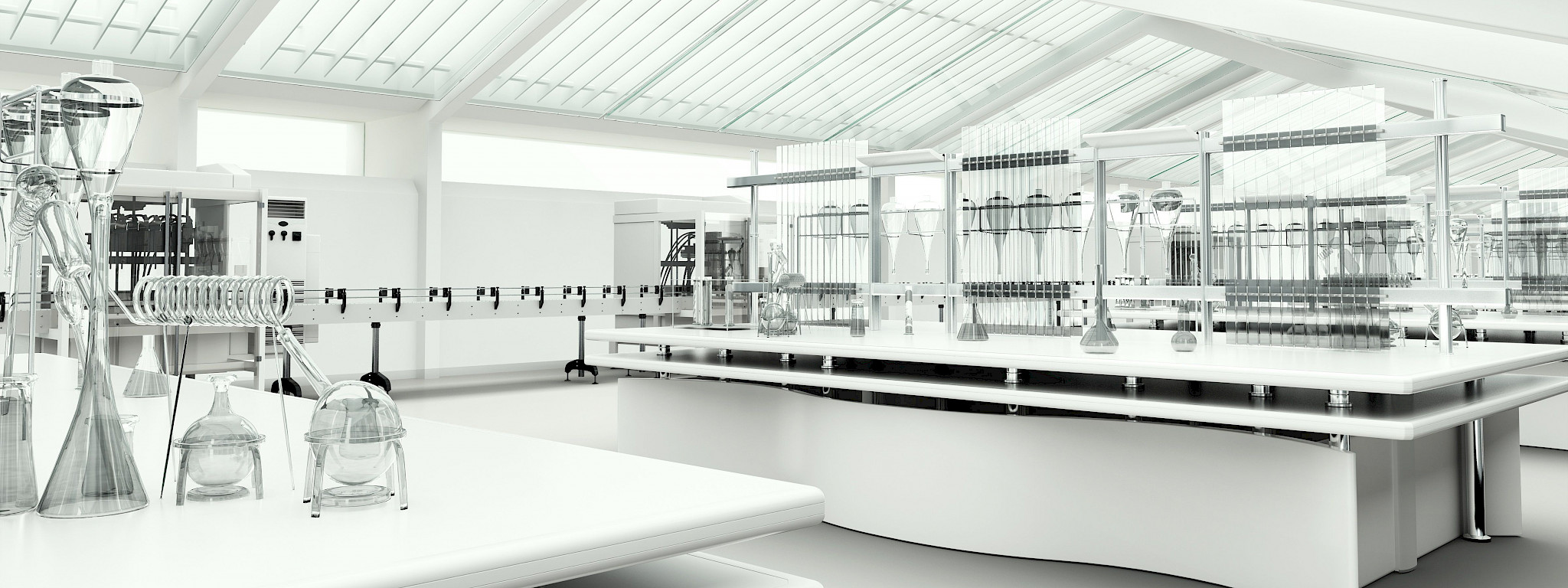 Modern and clean testing laboratory for proficiency testing